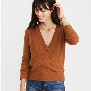 NEW Madewell Wrap-Front Pullover Sweater Cozy Yarn